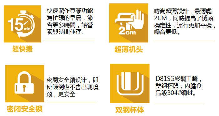 九陽料理奇機-香檳金限量組(D81SG)