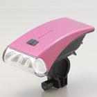 日本朝日-流線型白光 LED 自行車頭燈(粉紅)(DOP-HL100-P)