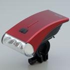 日本朝日-流線型白光 LED 自行車頭燈(紅)(DOP-HL100-R)