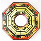 大八卦鏡 凸面鏡 凸透鏡 已開光精緻銅版黃楊木