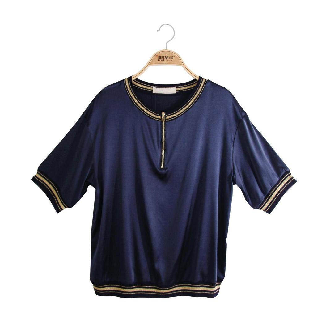 闕蘭絹時尚精品絲綢蠶絲上衣超值組